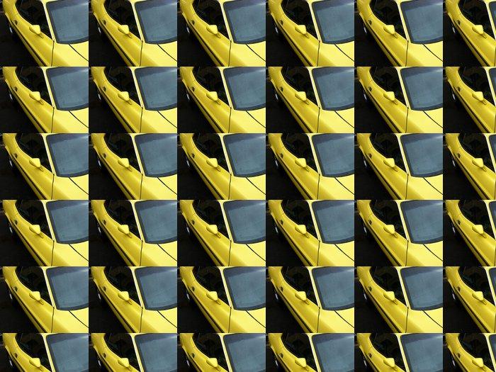 Vinylová Tapeta Gelbes Amerikanisches Muscle Car mit Rallyestreifen - Na cestě