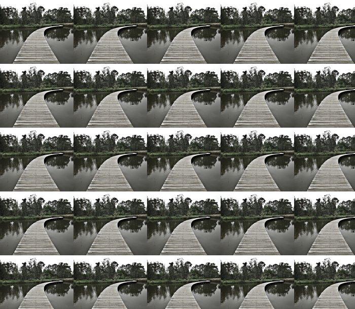 Vinylová Tapeta Boardwalk přes vodu do lesa - Venkov