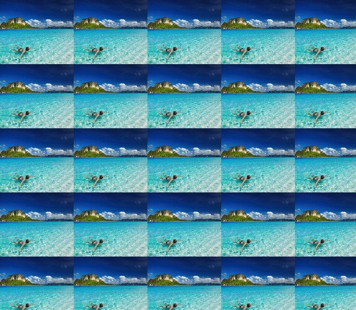 Vinylová Tapeta Tropické pláže, šnorchlování - Prázdniny