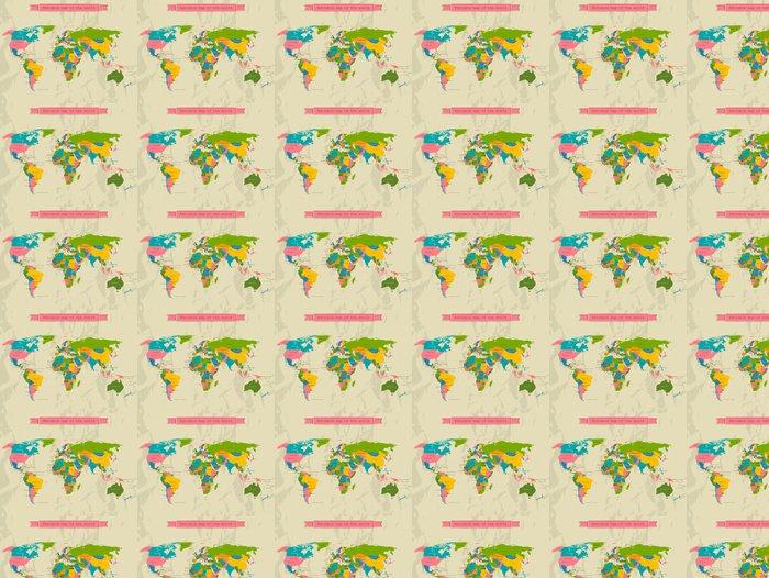 Vinylová Tapeta Upravitelné mapa světa se všemi zeměmi. - Témata