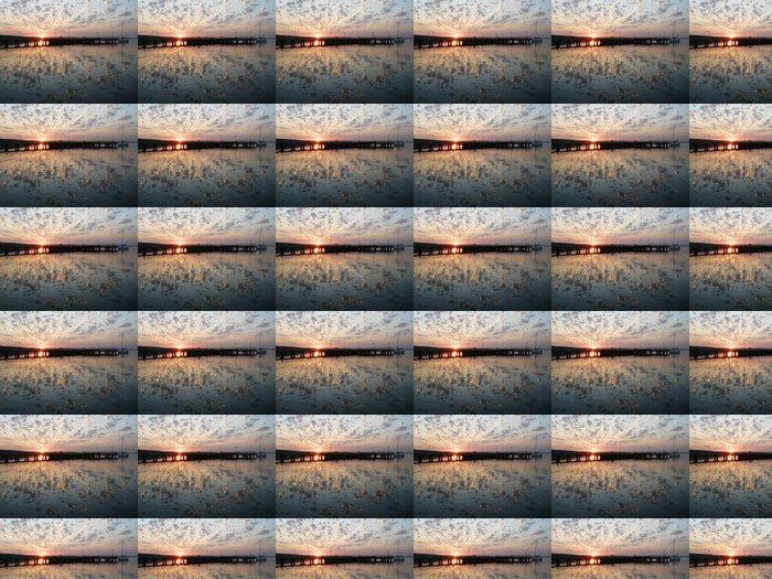 Vinylová Tapeta Západ slunce na řece Bug Yuzhny, Ukrajina - Nebe