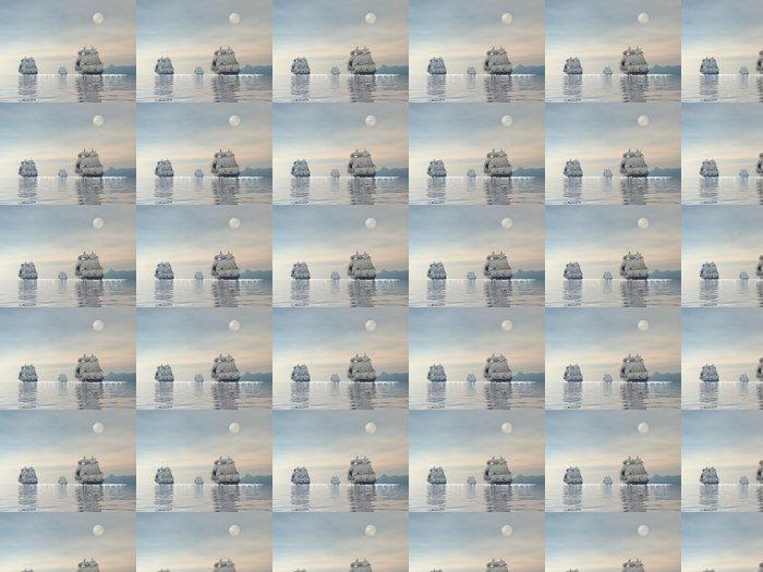 Vinylová Tapeta Staré lodě - 3D vykreslování - Témata
