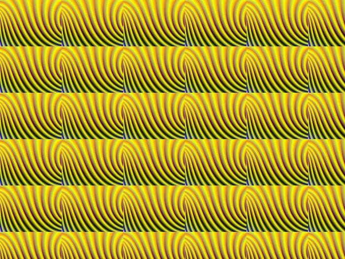 Keltaiset käyrät Vinyylitapetti - Abstrakti