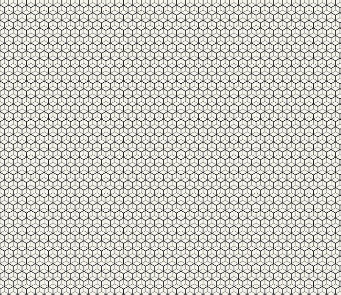 Papier peint à motifs Hexagone ligne géométrique grille motif ...