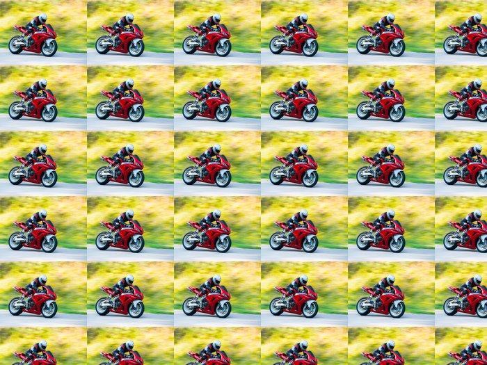 Vinylová Tapeta Motorka závodní - Extrémní sporty