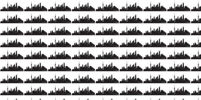 Vinylová Tapeta Shanghai Čína panorama města silueta vektor - Asijská města
