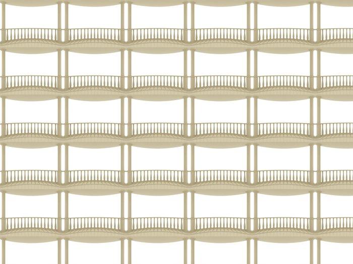 Vinylová Tapeta Balkon - Soukromé budovy