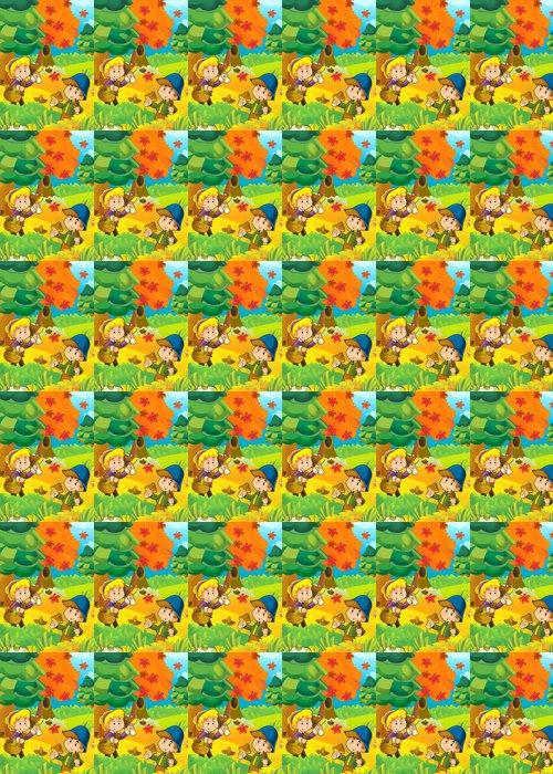 Vinylová Tapeta Houbaření - ilustrace pro děti - Outdoorové sporty