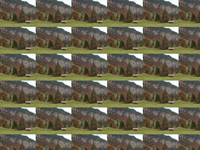 Vinylová Tapeta Alpy v Německu v blízkosti obce Oberstdorfu na podzim - Prázdniny