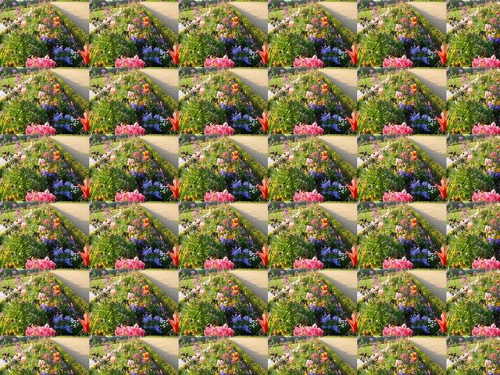 Vinylová Tapeta Záhon (3) - Květiny