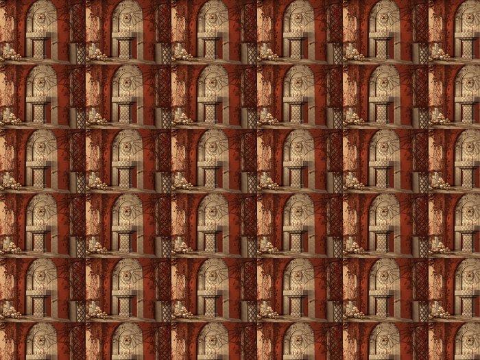 Vinylová Tapeta Altán s lebkami a podzimní břečťanu - Roční období