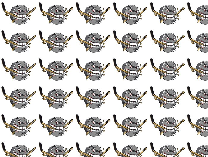 Vinylová Tapeta Hokejový puk maskot - Nálepka na stěny