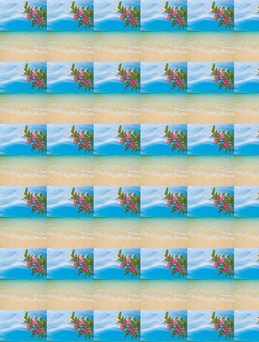 Vinylová Tapeta Květiny u pláže - Prázdniny