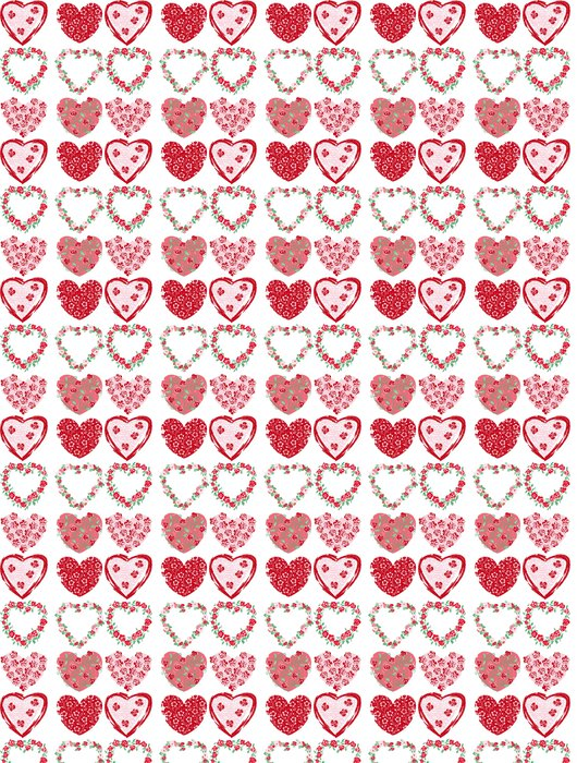 Vinylová Tapeta Květiny srdce - Mezinárodní svátky