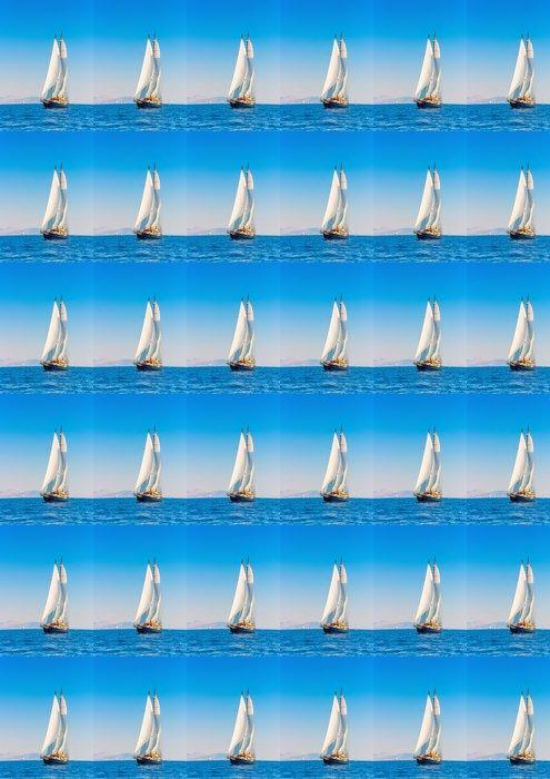Vinylová Tapeta Big 3 stožár klasické plachetnice na ostrově Spetses v Řecku - Témata