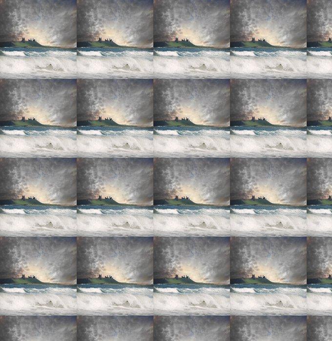 Papier peint à motifs vinyle Château Dunstanborough - Catastrophes naturelles