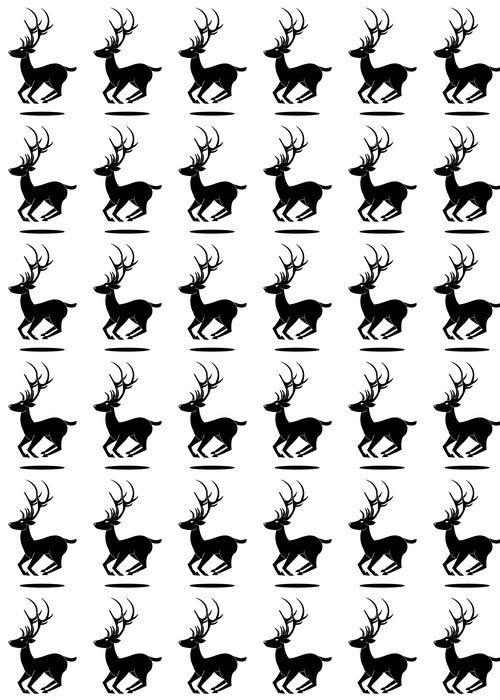 Vinylová Tapeta Jelen symbol skákání - Imaginární zvířata