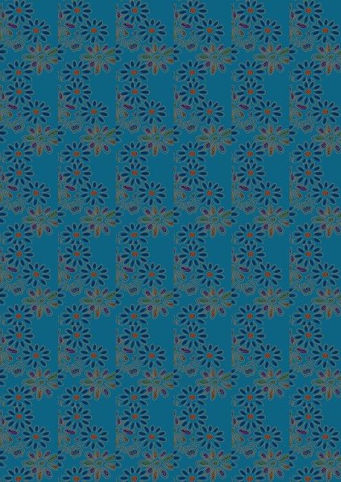 グラフィックパターン Vinyl Wallpaper - Flowers