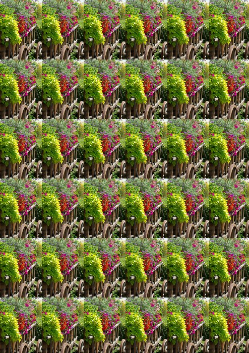Vinylová Tapeta Alter Wagen mit Blumen - letní květiny - Květiny