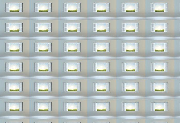 Vinylová Tapeta Otevřít okno vedoucí na jiné místo - Nálepka na stěny