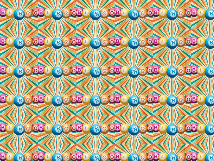 Vinylová Tapeta Bingo koule na retro hvězdice - Pozadí