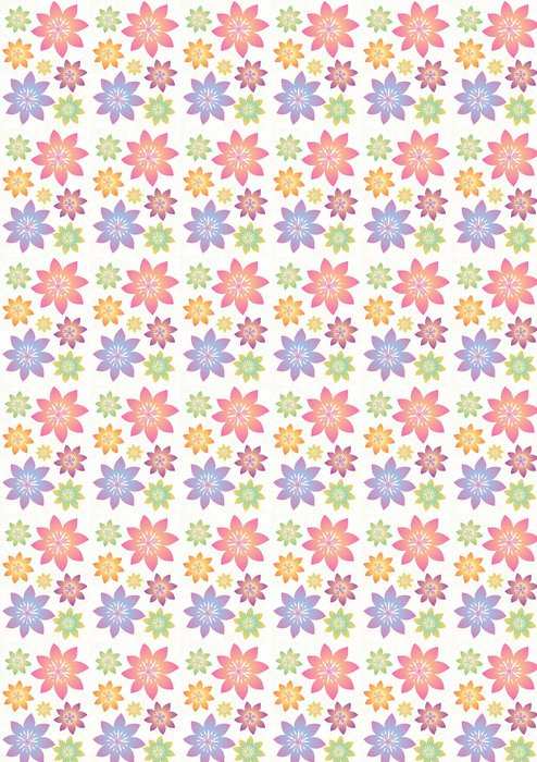 Vinylová Tapeta Stock vektorové ilustrace: květina set - Květiny