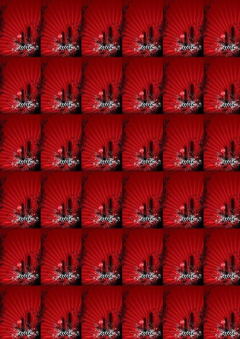 Vinylová Tapeta Red město - Móda