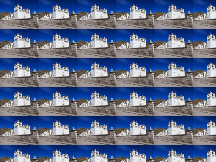 Vinylová Tapeta Bílý kostel pod modrou oblohou v Peru - Amerika