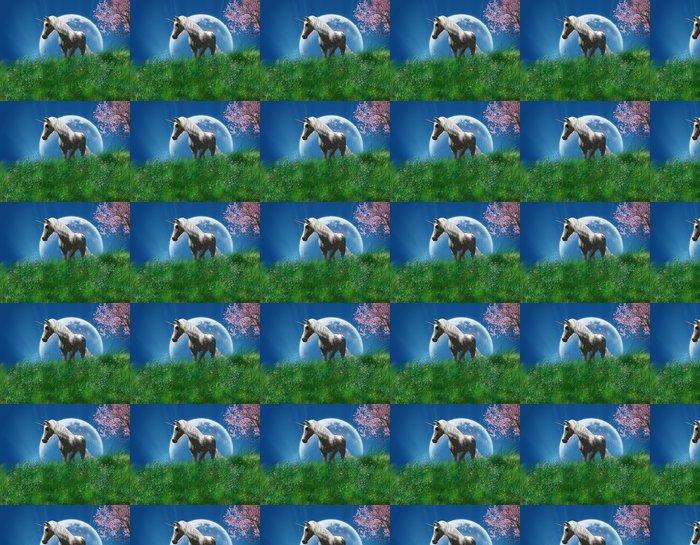 Vinylová Tapeta Jednorožec v oblasti - Imaginární zvířata