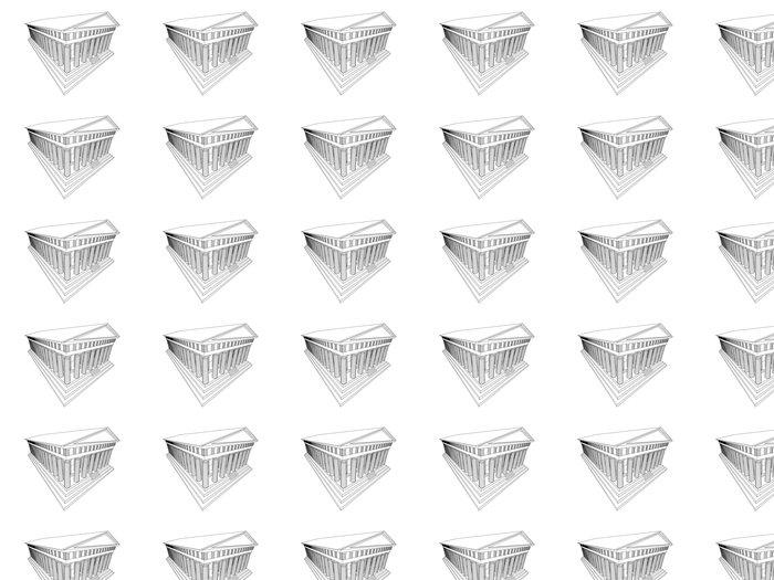 Vinylová Tapeta Partenon - Evropská města