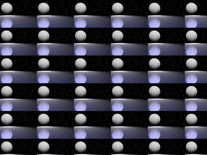 Vinylová Tapeta Moon na reflexním hvězdy upláchnout - Meziplanetární prostor