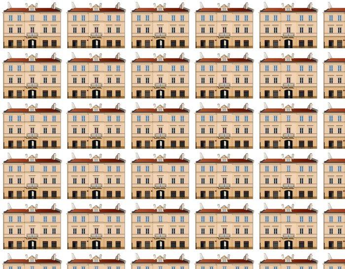 Vinylová Tapeta Klasicistní fasáda ilustrace - Evropská města