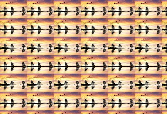 Vinylová Tapeta Stromů v jezeře barev - Voda