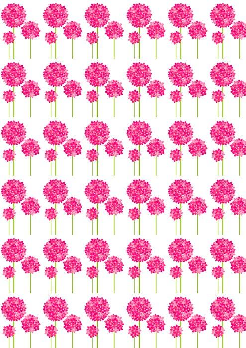 Vinylová Tapeta Růžové květiny na bílém - Roční období