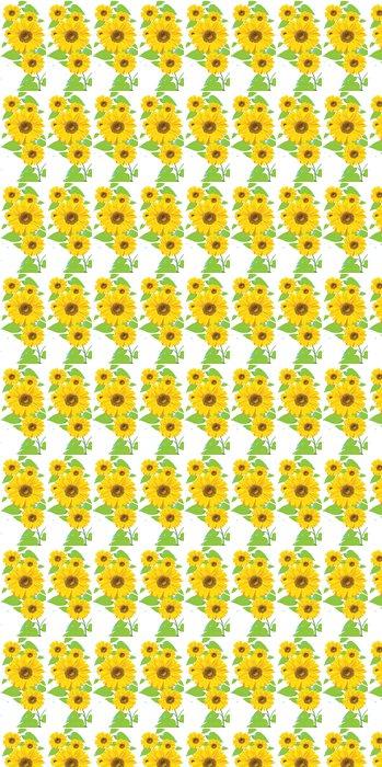 Vinylová Tapeta Slunečnice (pohlednice) - Květiny
