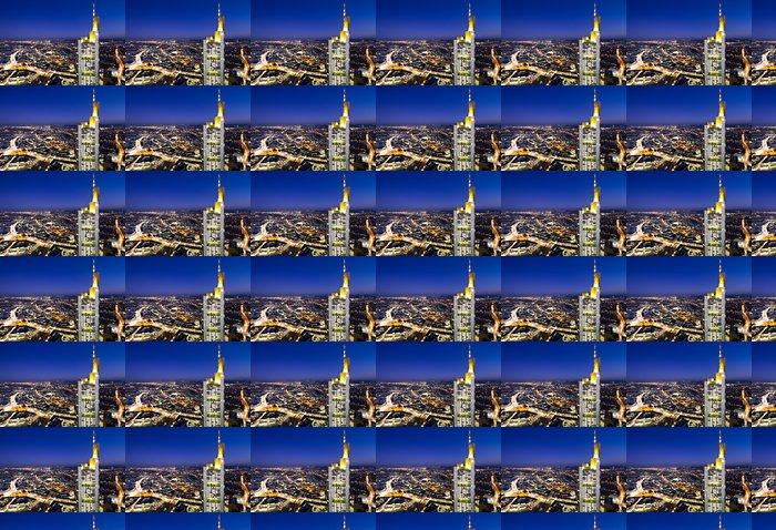 Vinylová Tapeta Osvětlený panoráma Frankfurtu - Evropa