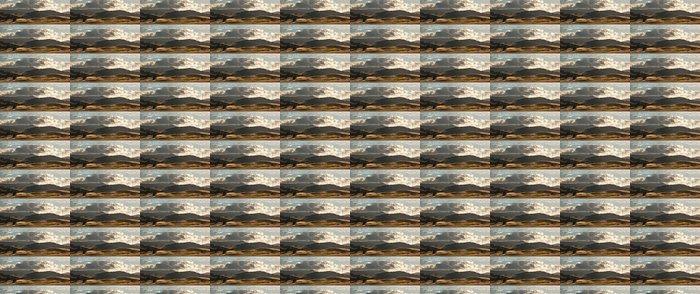 Vinylová Tapeta Panorama valivých zlatých polí v Kalifornii - Nebe