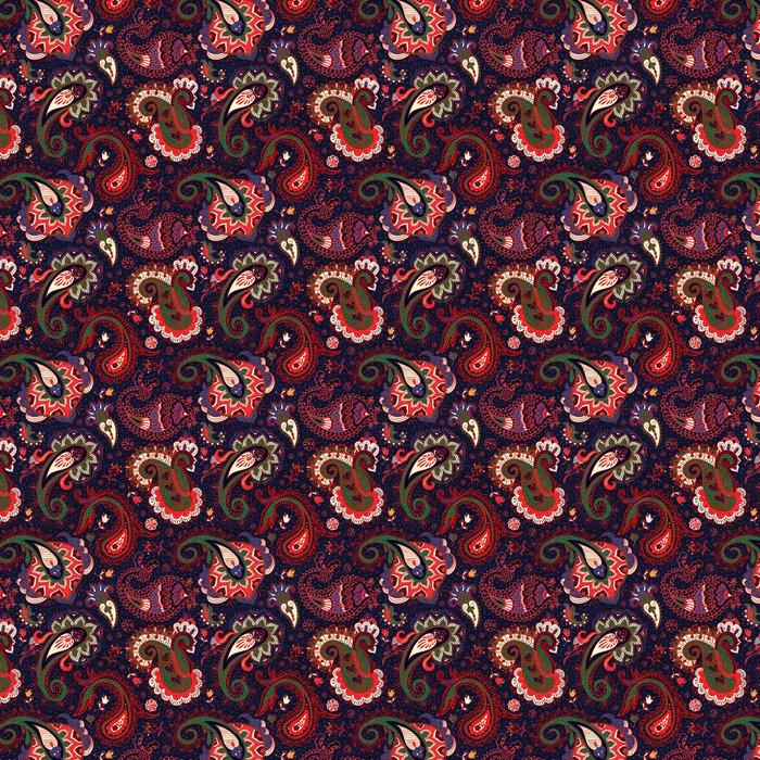 Vinil Duvar Kağıdı Vektör Dikişsiz Paisley Pattern - Grafik kaynakları