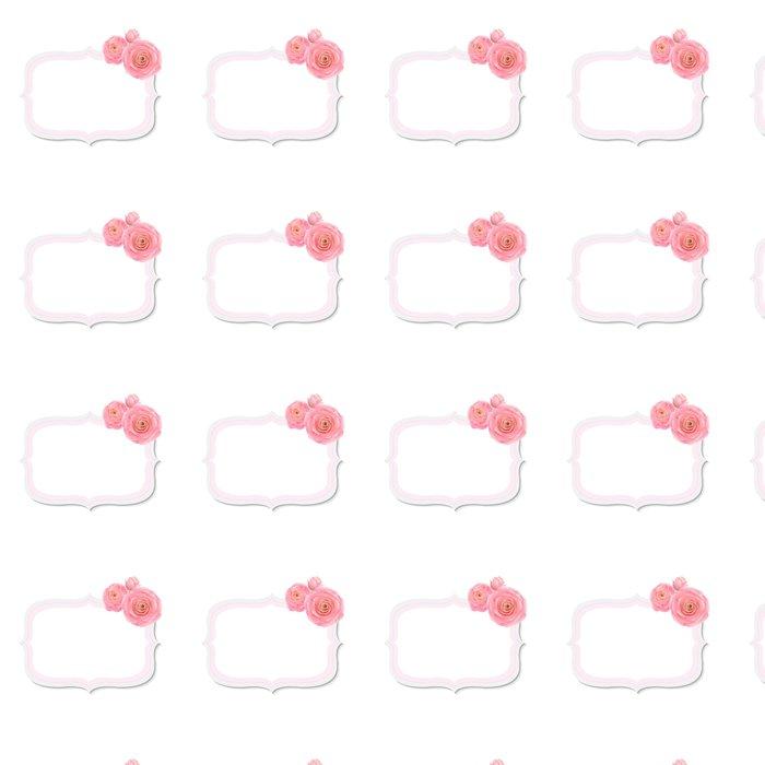 Vinylová Tapeta Pastel Pink Rose Label - Květiny