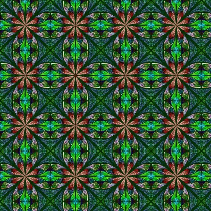 Vinylová Tapeta Multicolor krásný fraktální Okno z barevného skla stylu. Comp - Pozadí
