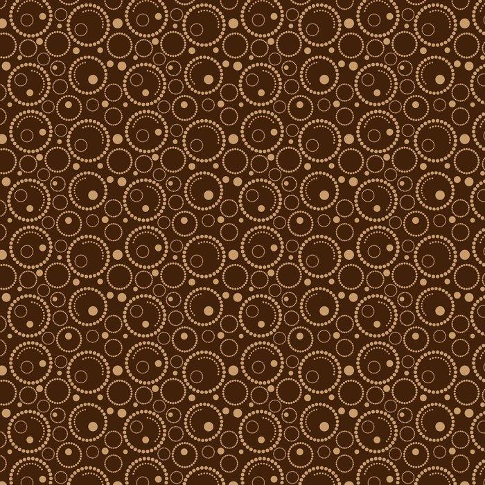 Geometric Brown Background Circles Vinyl Wallpaper
