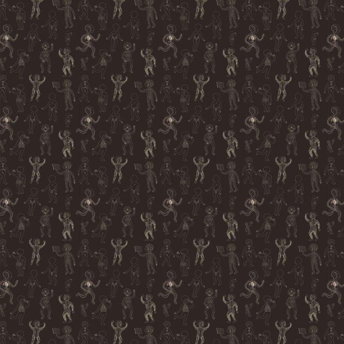 Tapete Vektor nahtlose Muster mit Kontur Darstellung der ...