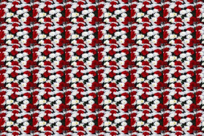 Vinylová Tapeta RAMO de Flores. Claveles rojos Y CHRYSANTEMUM Blancos - Květiny