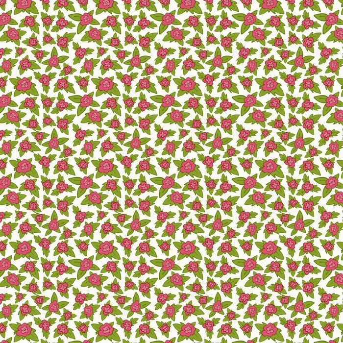 Vinylová Tapeta Vektorové světlé květinové bezproblémové vzorek - květina s listy backg - Zemědělství