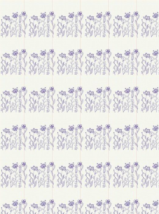 Vinylová Tapeta Květinové abstraktní čmáranice, umělecká stránka - Květiny