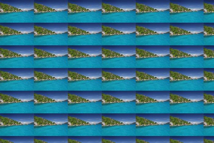 Vinylová Tapeta Ile ráj Seychely tyrkysové moře lagon exotique tropique - Prázdniny