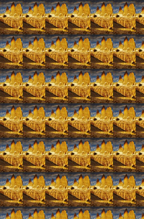 Vinyltapet Torres del Paine i soluppgången - Amerika