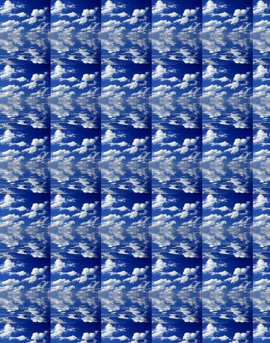 Vinylová Tapeta Zatažené obloze odráží ve vodě - Nebe