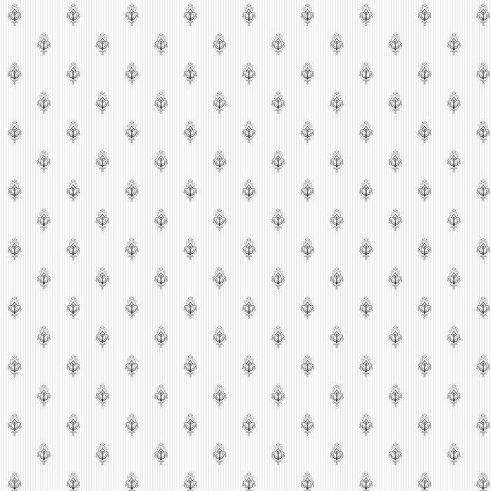 Vinylová Tapeta Bezproblémové vektorové pozadí. Vintage zdrženlivý damašek vzor. Snadno upravit barvy. - Grafika