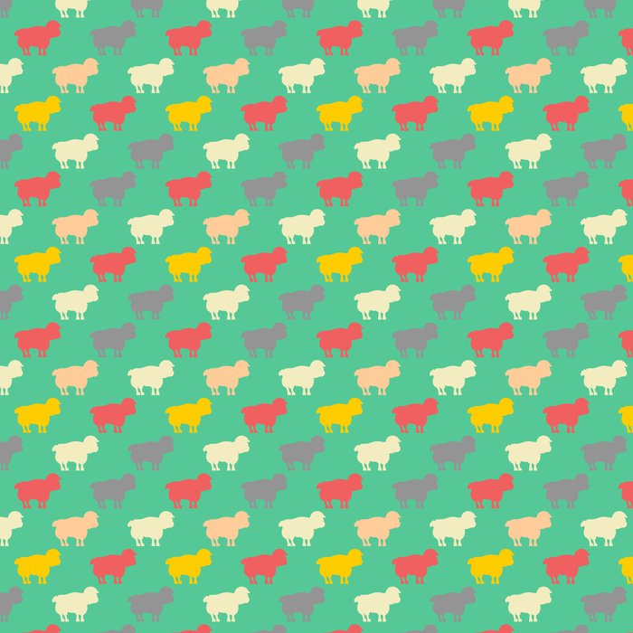 Sheep Pattern Ewe Ornament Flock Of Sheeps Farm Animal Background Texture For